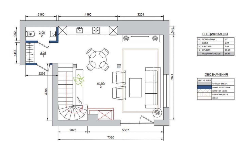 3 kvartira plan 1