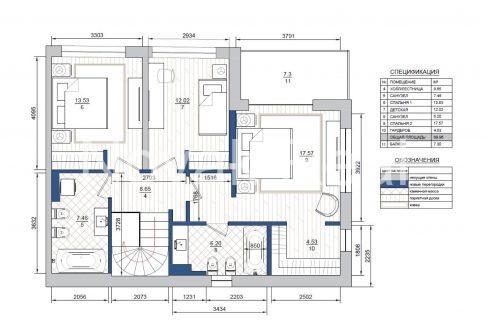 3 kvartira plan 2